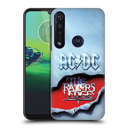Officiële AC/DC ACDC De Rand van de scheermessen Album Kunst Hard Back Case Compatibel voor Motorola Moto G8 Plus