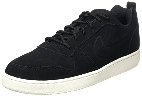 Nike Court Borough Low Prem, Scarpe da Basket Uomo, Nero (Black/Black/Sail 007), 45 EU