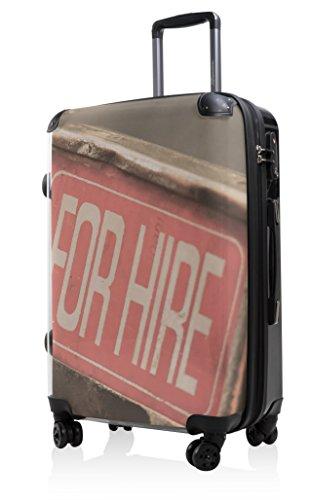 Hauptstadtkoffer® Style - Maleta rígida - 57 litros - Carcasa Delantera Transparente - DISEÑO Intercambiable - Cerradura TSA (For Hire)