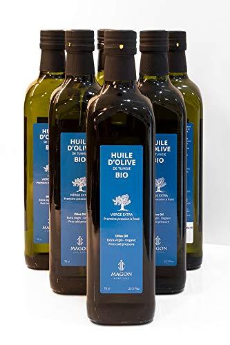 6 x 75cl Huile d'olive BIO Vierge Extra Première pression à Froid