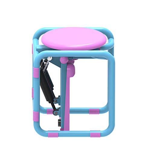 Wwrb Tragbare Stepper Maschine Übung, Mini Steppers Mit Hocker Multifunktions-Up-Down Stepper Training Arm Reduzierung/Hüfthochstellteil/Dünne Taille/Skinny Legs,Rosa