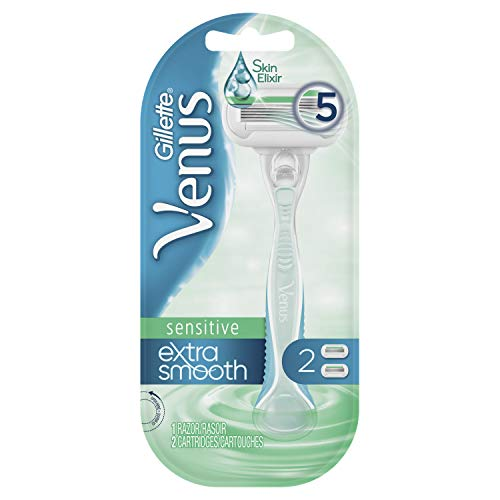 Gillette Venus Extra Smooth Sensitive Women's Razor - 1 Handle + 2 Blade Refills