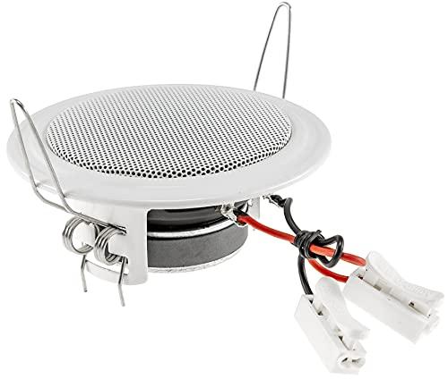 Lautsprecher Decke Wand Einbau Ø106mm 45 Watt Metallschutzgitter Halteklammern 8 Ohm Einfache Feder-Montage Weiß
