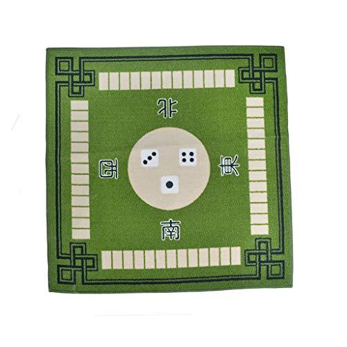 perfeclan 1x Manteles Multifuncionales para El Hogar Alfombra De Póquer Espesamiento Mahjong Manteles - Verde