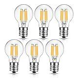 ドリスショップ LED電球 E17口金 40W形相当 電球色 ミニクリプトン電球 フィラメント電球 全方向 シャンデリア用 エジソン電球 クリア電球 調光器対応 密閉形器具対応 6個入