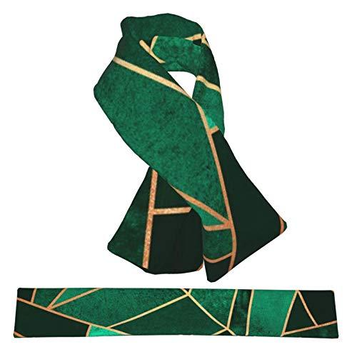Schal, smaragdgrün und kupferfarbene Linien Fleece Jungen Mädchen Schal Warm Winter Herbst mehrere Mode warme Schals für Frauen