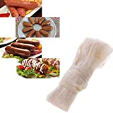 Younar 10Pcs 28-30mm Edible Dry Fine Sheep Sausage Casing for Making Roast Sausage, Dried Sausage, Sausage, Hot Dog,8.2ft