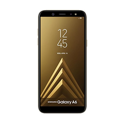 Samsung Galaxy A6 - Smartphone libre Android 8,0 (5,6 HD+), Dual SIM, Cámara Trasera 16MP + Flash y Frontal 16MP + Flash, Oro, 32 GB 5.6