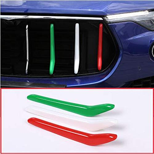 YUECHI for Maserati Levante 2016-2018 Car-Styling ABS Front Grill Decoration Strips Trim 3 Pcs