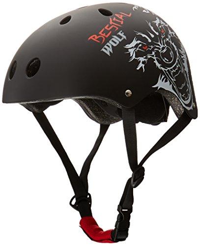 Bestial Wolf Black Skull B Casco para Deportes