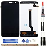 HYYT Replacement for ZTE Z971 LCD Digitizer ScreenLCD Display and Touch Screen Digitizer Glass Replacement with Frame Full Assembly (Black)