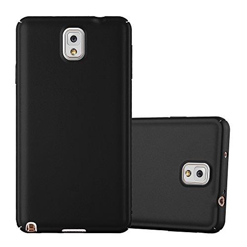 Cadorabo Hülle für Samsung Galaxy Note 3 - Hülle in Metall SCHWARZ – Hardcase Handyhülle im Matt Metal Design - Schutzhülle Bumper Back Case Cover