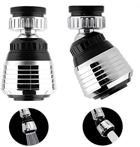 2PCS 360 Degree Swivel Faucet Aerator Deluxe Water Saving Faucet...
