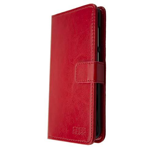 caseroxx Bookstyle Tasche für Gigaset GS180, Tasche (Bookstyle Tasche mit & ohne Bildschirmschutz) (Bookstyle Tasche mit Bildschirmschutz, rot)