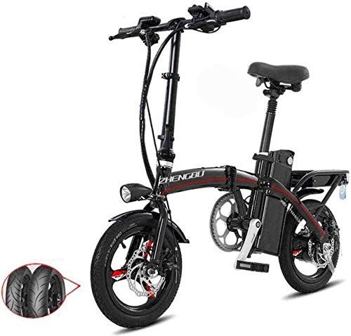 Bicicleta eléctrica de nieve, Bicicletas eléctricas rápida for adultos Pedales ayuda de la energía y 48V de la batería de iones de litio y aluminio ligero bicicleta eléctrica con un 14 pulgadas ruedas