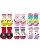 Wrapables 3D Cartoon Anti-Skid Baby Booties Sock Slippers (Set of 6), Fantasy, 3-12 Months