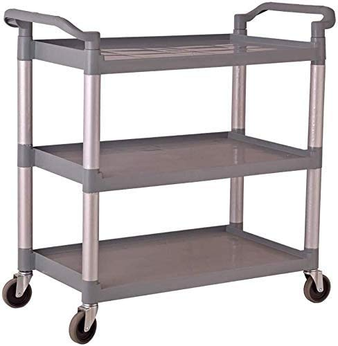 Fantastic Deal! BDD Carts,Trolley with Handle, Cabin Grey Wine Rack, Medical Cart, Hotel and Kitchen Catering Use, Load 150 Kg