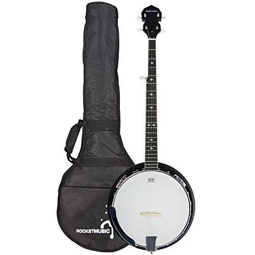 Rocket BJW01 - Banjo occidental de 5 cuerdas con bolso