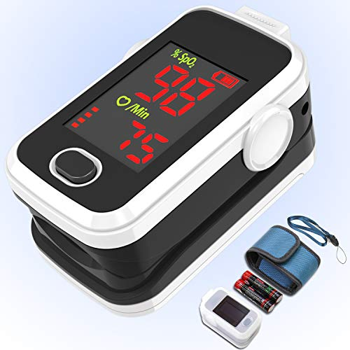 Great Price! Fringtip Pulse Oximeter LED Display Amemo A310L, for Sports and Aviation use only.White...