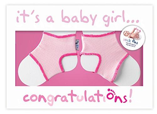 Sock On Glückwunschkarte für Mädchen, Rosa
