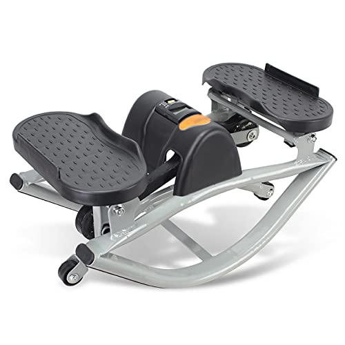 FLBTY Mini Stepper, Twist Stair Stepper Máquina De Columpio Aeróbica para Interiores Máquina De Ejercicios para Adelgazar para Hombres Y Mujeres, Equipo Deportivo Pierna Brazo Cintura