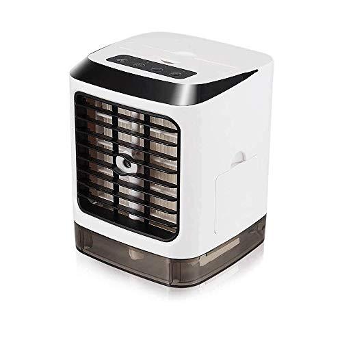 RUINAIER Refrigeración humidificador y purificador Aire Acondicionado, humidificador con luz LED y purificador UV |Enchufe USB 2 Horas de batería Recargable