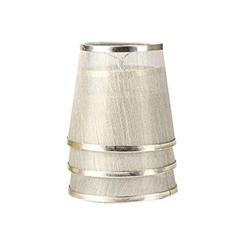 Uonlytech 3 Stück Kronleuchter Lampenschirme Organza transarent Clip auf Lampenschirm für Kronleuchter Stehleuchte und Tischlampe Lampenabdeckung