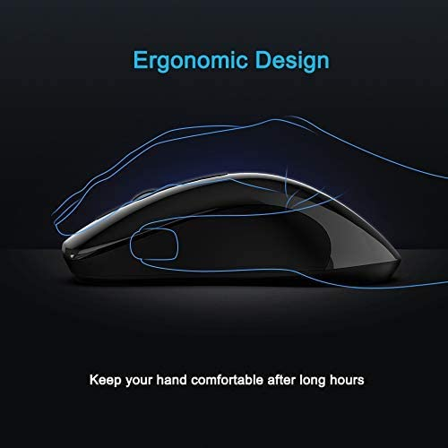 Automatic Sleep Function Switch Design 1600DPI Optical 3-Position DPI Adjustment 2.4G Wireless Connection Technology for Notebook Computers,Blue YUEBAOBEI Wireless Mouse