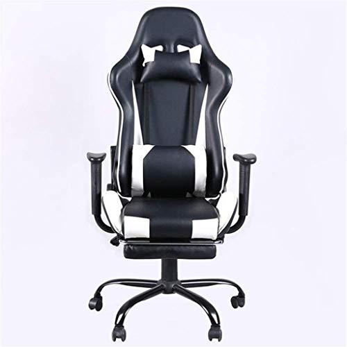 GAOLILI Bürostuhl mit Armlehne Gaming Chair High Back ergonomischer Rennstuhl Bürostuhl Computer Schreibtischstuhl (Color : White, Size : Free Size)