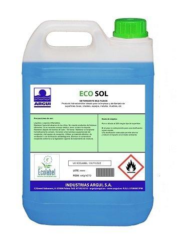 ECOSOL 5L. Limpia cristales ecologico profesional
