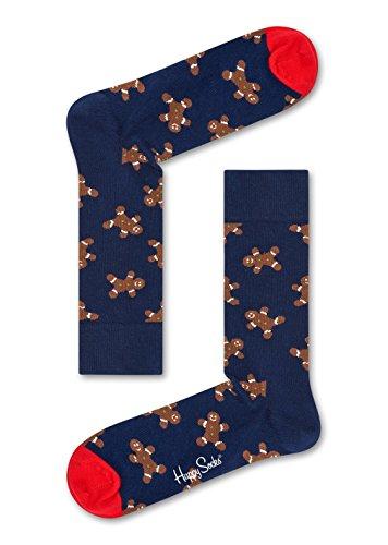 Happy Socks Weihnachtssocken Große Auswahl an Größen und Farben (Holiday Singles Gingerbread, 41-46)