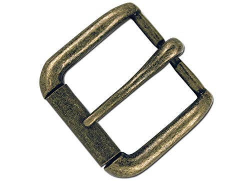 """Tandy Leather Napa Buckle 1-1/4"""" (32 mm) Antique Brass Plate 1642-09"""