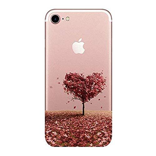 Suhctup Custodia Compatibile per iPhone SE 2020 Cover, Ultra Slim iPhone 7/8 Silicone Trasparente con Disegno, Antiurto Silicone Morbido Case per iPhone 7