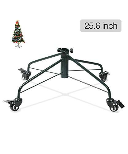 Ouvin - Soporte para árbol de Navidad con Ruedas, Base de Metal de Hierro de 4 pies, Decoraciones de Fiesta, Metal, Verde, 25.6'