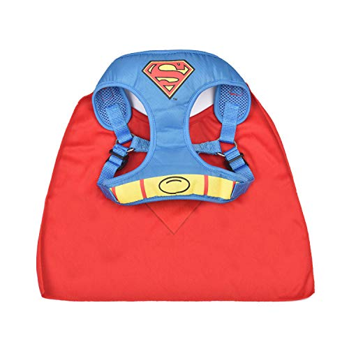 DC Comics Superman Harness for Dogs | Superhero Dog Harness | Harness for Small Dog Breeds