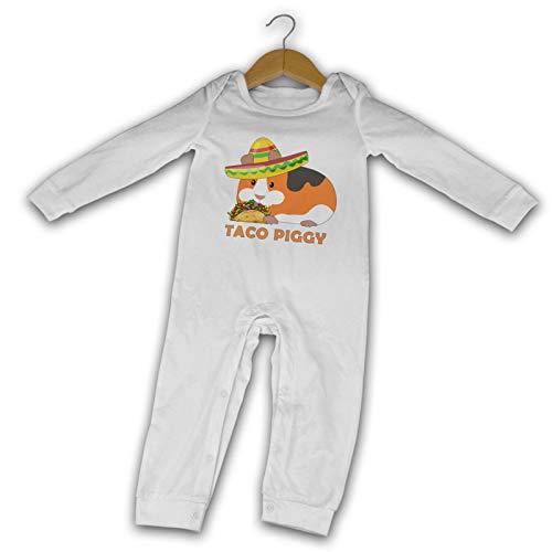 WushXiao Meerschweinchen Taco Long Comfort Baby Crawler schwarz Gr. 6 Monate, weiß
