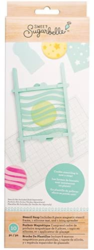 Sweet Sugarbelle Magnetic Stencil Frame by American Crafts | 10 Piece, Blue