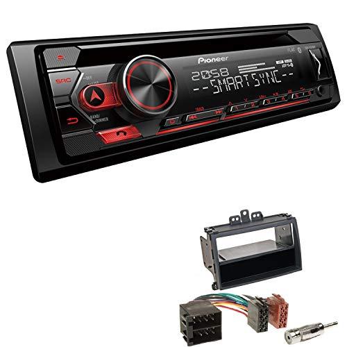 EHO Autoradio mit Einbauset passend für Hyundai i20 schwarz inkl Pioneer DEH-S320BT 1 DIN Bluetooth