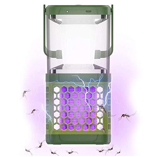 BAKAJI A12067-37-A - Farol mosquitera eléctrica UV para Carga Solar y USB,...
