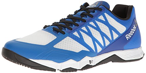 Reebok Herren Crossfit Speed Tr Cross-Trainer Schuh, Weiß (Weiß/Schwarz/Awesome Blue/Zinn), 39 EU