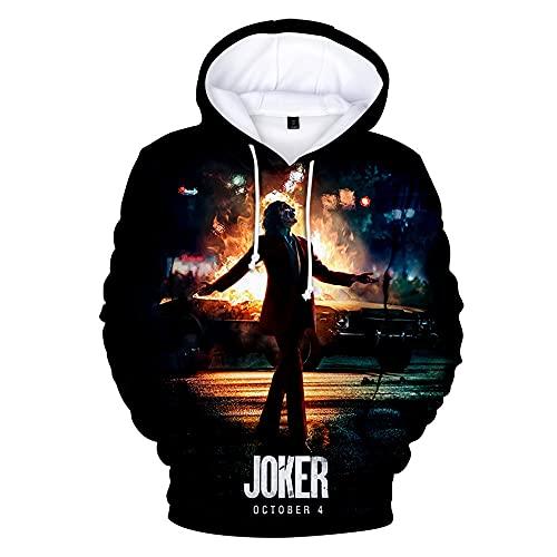 Humor Haha Joker Funny Hoodie Crazy Smile Pullover Sudadera Moda Stree Abrigos Sudaderas 3D Sportwear XXXL