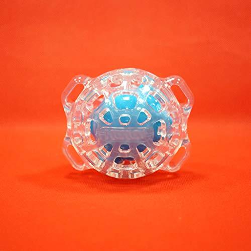 AA-Pet Food Ball Balle de Jouet pour Chien de Compagnie Jouet sonore butinant Balle Douce et Flexible flottable / 9.1x7.5cm
