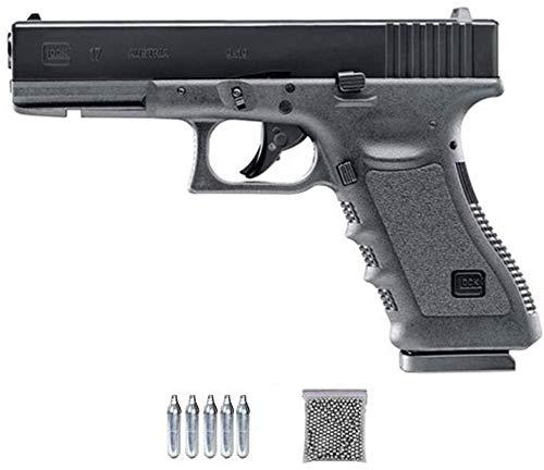 Glock 17-1 Umarex (blowback) | Pack Pistola de balines (perdigones o Bolas de Acero BB's). Arma de Aire comprimido CO2 Calibre 4,5mm <3,5J