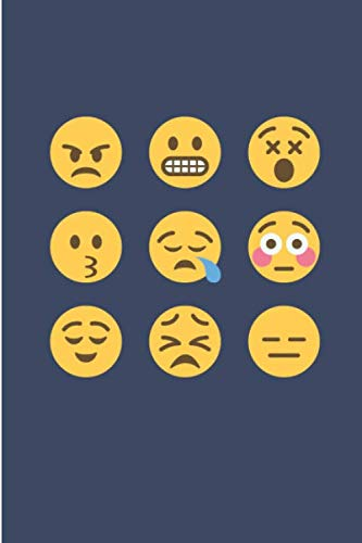 Emoji Faces: Funny Lined Notebook Journal - Novelty Themed Gifts Ideas - Laughing Gag Joke Hilarious Humor
