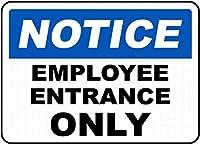 安全標識通知標識従業員入口記号標識警告金属錫