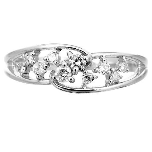 [ココカル]cococaruシルバー リング ダイヤ リング ダイヤモンド リング 指輪 レディース sv925 ギフト 贈り物 記念日 プレゼント 日本製 品質保証書 金属アレルギー(12)