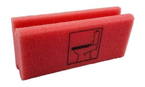 KaiserRein Piktogramm Schwamm WC rot Putzschwamm mit Beschriftung Pikto Schwamm