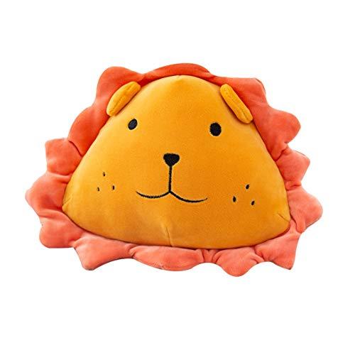 HMMJ Bolso de muñeca, Flor de Sol león Peluche Juguete Suave Lindo león Cabeza Almohada muñeca