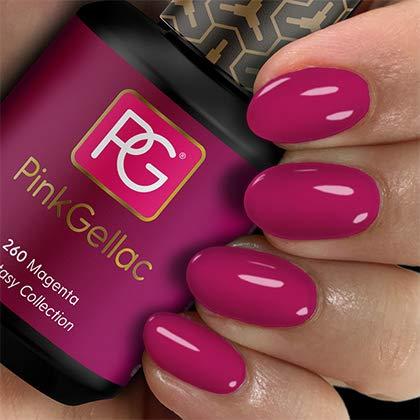 Pink Gellac Shellac Gel Nagellack 15 ml für UV LED Lampe | 260 Magenta Violett Lila | Gel Nail Polish for UV Nail Lamp | LED Nagel Lack Gellack Nagelgel