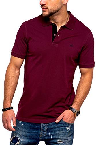 JACK & JONES Herren Poloshirt Infinity Polohemd Kurzarmshirt (M, Port Royale)